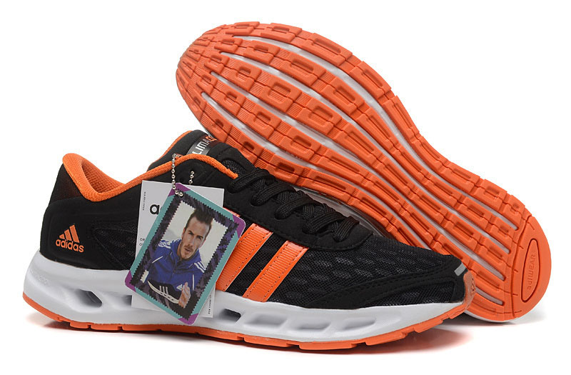 Men's Adidas Climacool Solution Running Shoes Core Black/Orange