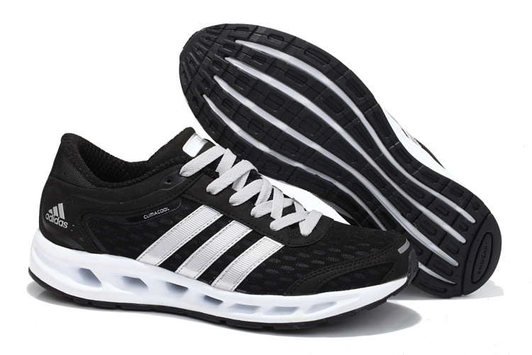 Men's/Women's Adidas Climacool Solution Running Shoes Black/Running White/Metallic Sliver