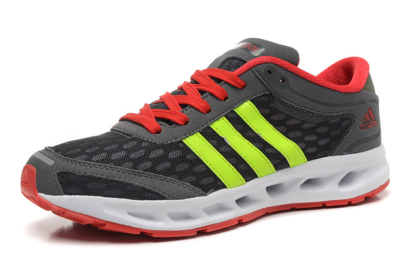 Men\'s Adidas Climacool Solution Running Shoes Charcoal Gray/Bright Red