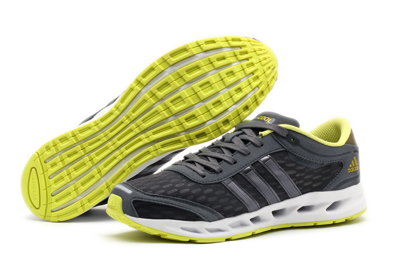Men's Adidas Climacool Solution Running Shoes Metallic Grey/Yellow