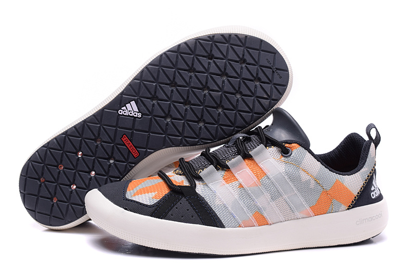 Women's Adidas Outdoor Climacool Boat Lace Shoes Grey/Orange