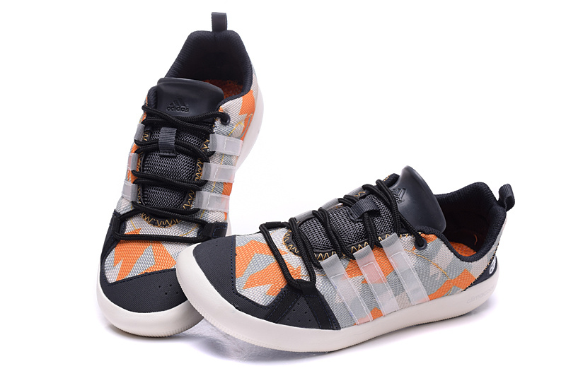 Women\'s Adidas Outdoor Climacool Boat Lace Shoes Grey/Orange
