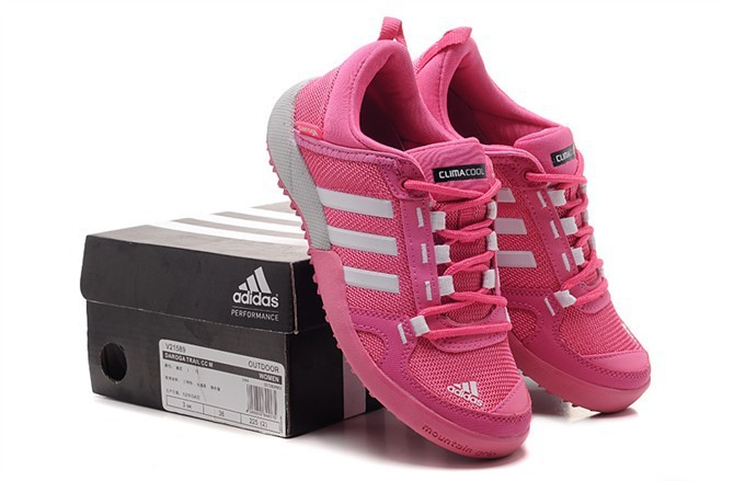 Women\'s Adidas Outdoor Daroga Two 11 CC Shoes Pink/White/Grey