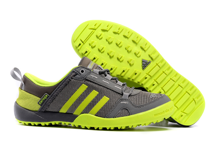 Men's Adidas Outdoor Daroga Two 11 CC Shoes Dark Grey/Fluorescent Green D98806