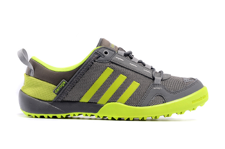 Men\'s Adidas Outdoor Daroga Two 11 CC Shoes Dark Grey/Fluorescent Green D98806