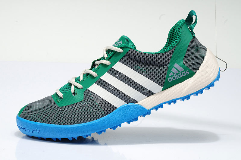 Men's/Women's Adidas Outdoor Daroga Two 11 CC Shoes Oil Green/White/Blue D97883