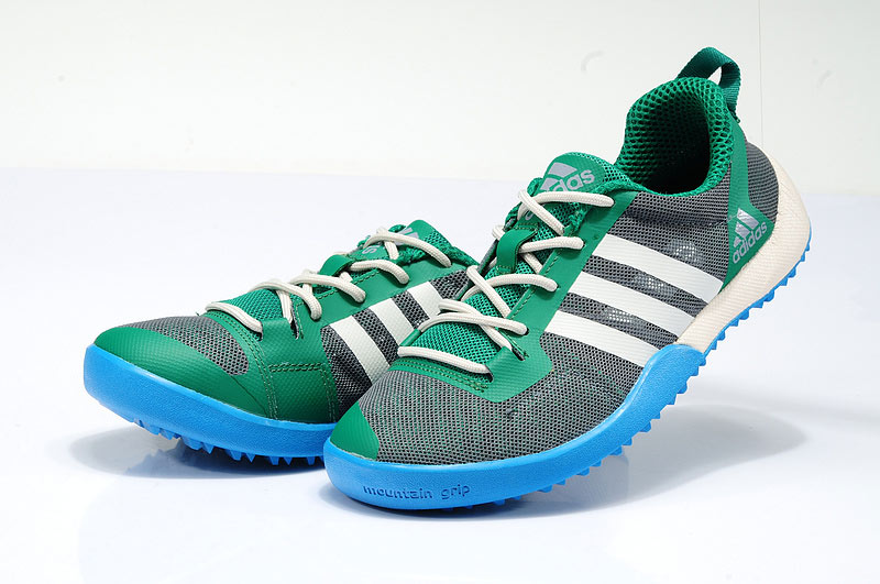 Men\'s/Women\'s Adidas Outdoor Daroga Two 11 CC Shoes Oil Green/White/Blue D97883