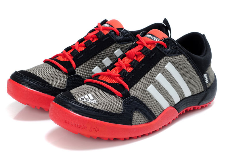 Men\'s/Women\'s Adidas Outdoor Daroga Trail CC M Shoes Grey/Black/Bright Red V21565