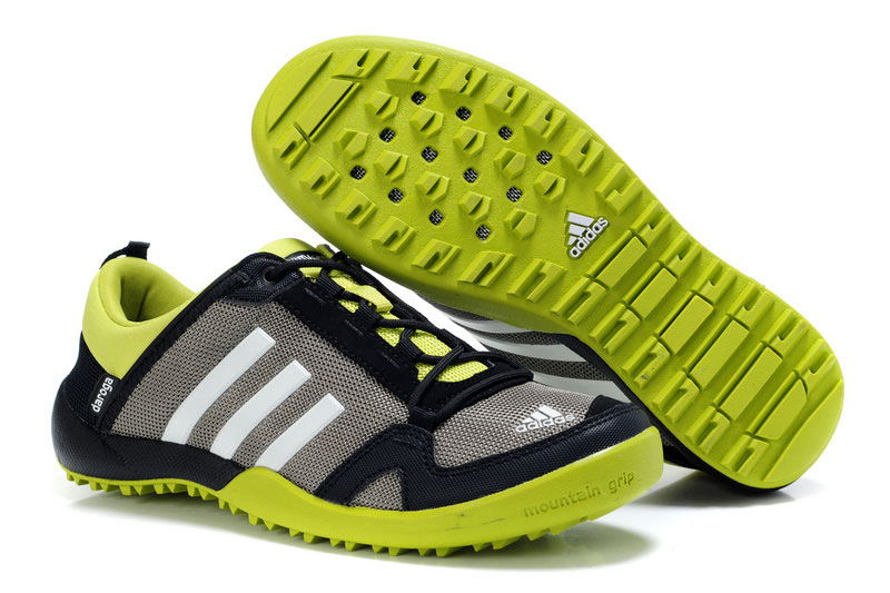 Men's/Women's Adidas Outdoor Daroga Trail CC M Shoes Grey/Black/Green V21588