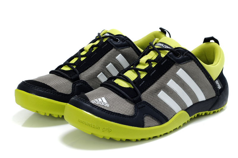 Men\'s/Women\'s Adidas Outdoor Daroga Trail CC M Shoes Grey/Black/Green V21588