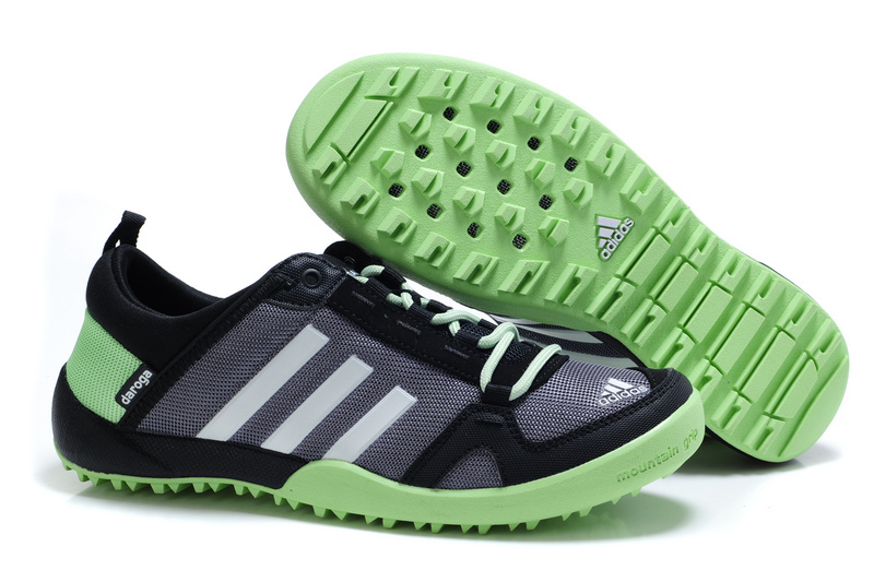 Men\'s/Women\'s Adidas Outdoor Daroga Trail CC M Shoes Grey/Black/Apple Green V21567