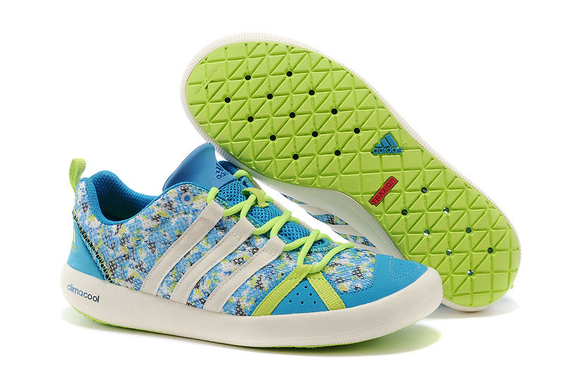 Men's/Women's Outdoor Climacool Boat Lace Shoes Sky Blue/Fluorescent Green M21851