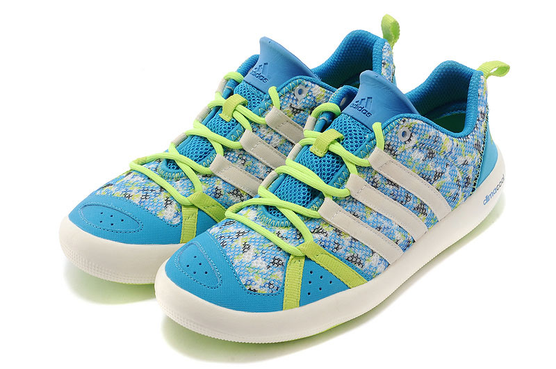Men\'s/Women\'s Outdoor Climacool Boat Lace Shoes Sky Blue/Fluorescent Green M21851