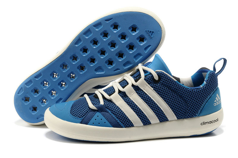 Men's/Women's Outdoor Climacool Boat Lace Shoes Dark Blue G60609