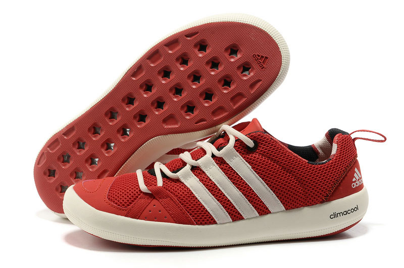 Men's/Women's Outdoor Climacool Boat Lace Shoes Scarlet/White G60607