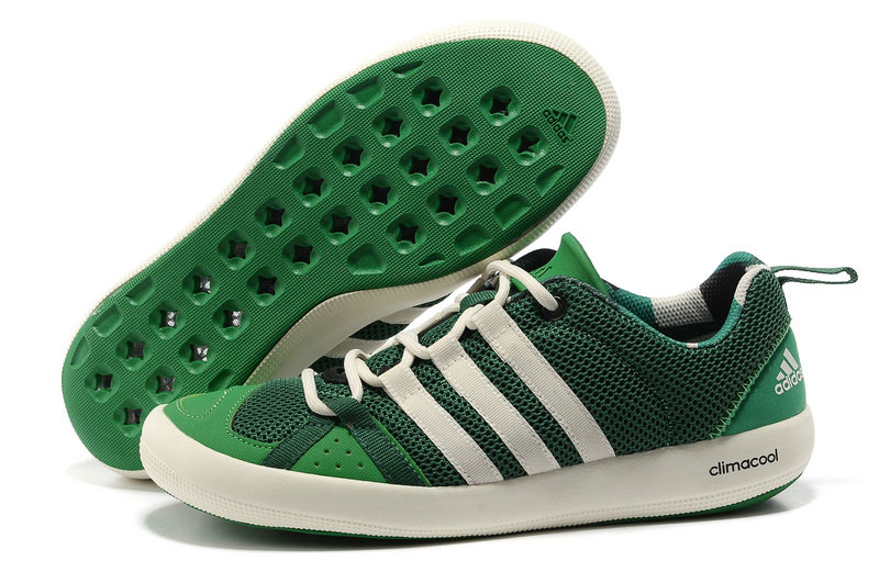 Men's/Women's Outdoor Climacool Boat Lace Shoes Oil Green/White G60606