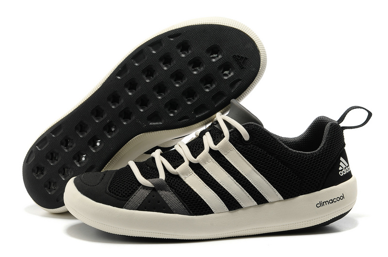 Men's/Women's Outdoor Climacool Boat Lace Shoes Black/Chalk/Sharpgrey G60604