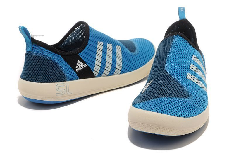 Men\'s/Women\'s Adidas Outdoor Climacool Boat SL Unisex Shoes Bold Blue/White G46723