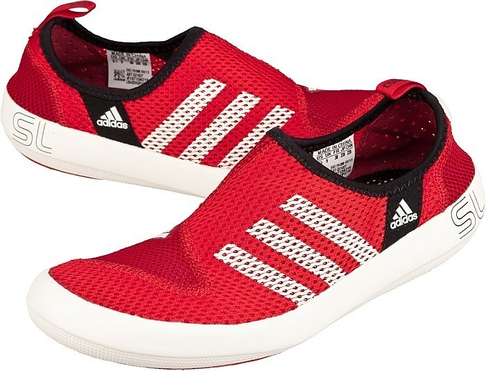 Men\'s/Women\'s Adidas Outdoor Climacool Boat SL Unisex Shoes Bright Red/White Q21027