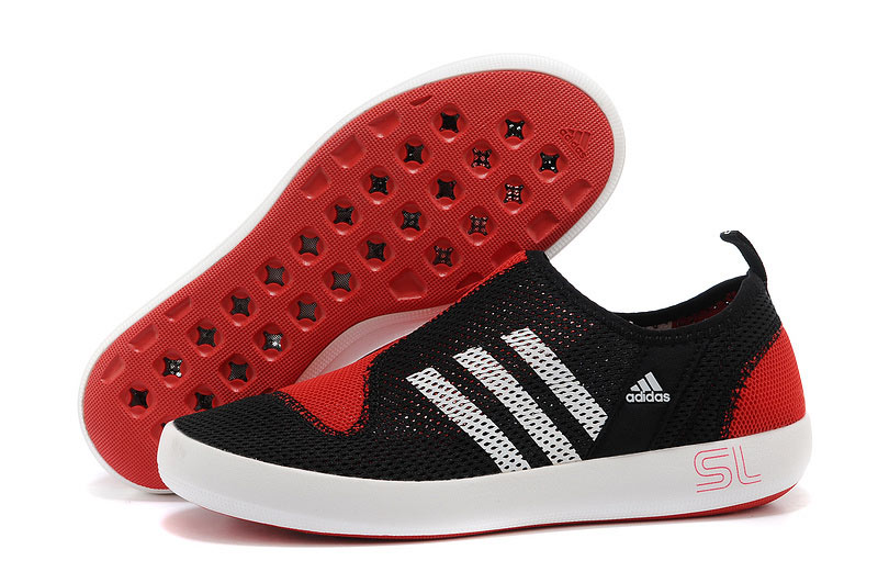 Men's/Women's Adidas Outdoor Climacool Boat SL Unisex Shoes Core Black/Bright Red
