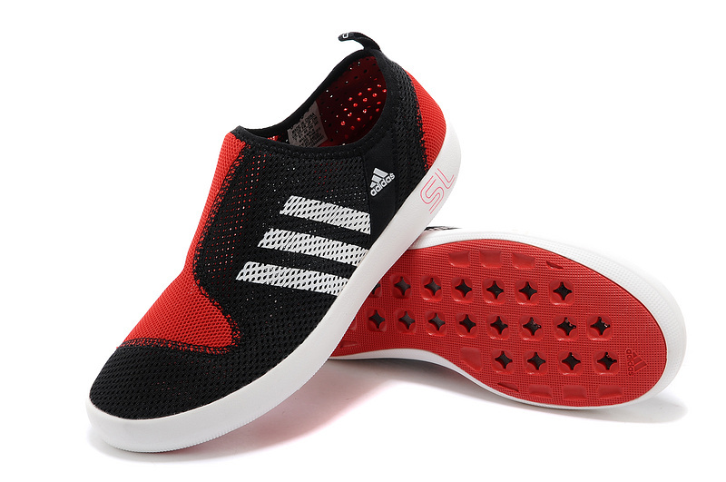 Men\'s/Women\'s Adidas Outdoor Climacool Boat SL Unisex Shoes Core Black/Bright Red