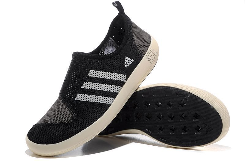 Men\'s/Women\'s Adidas Outdoor Climacool Boat SL Unisex Shoes Black/Grey V22796