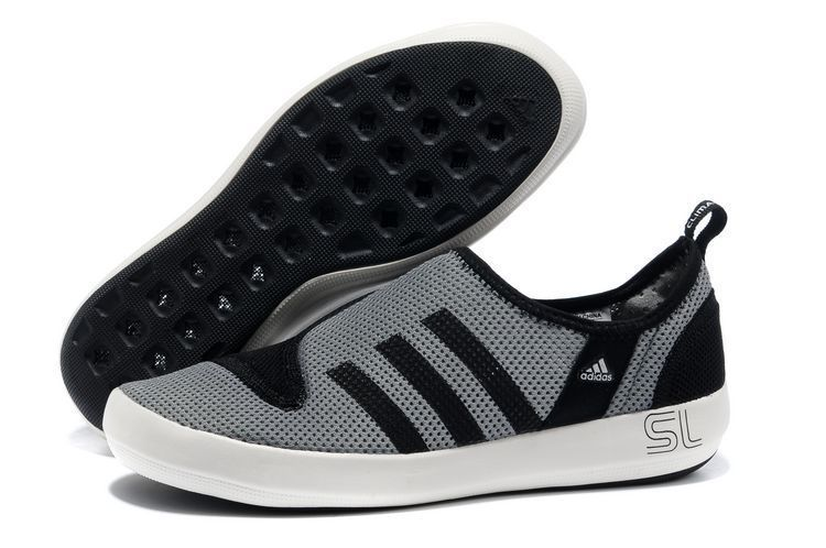 Men's/Women's Adidas Outdoor Climacool Boat SL Unisex Shoes Metallic Grey/Black