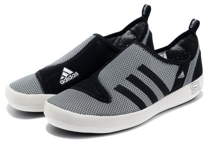 Men\'s/Women\'s Adidas Outdoor Climacool Boat SL Unisex Shoes Metallic Grey/Black