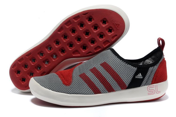 Men's/Women's Adidas Outdoor Climacool Boat SL Unisex Shoes Metallic Grey/Crimson