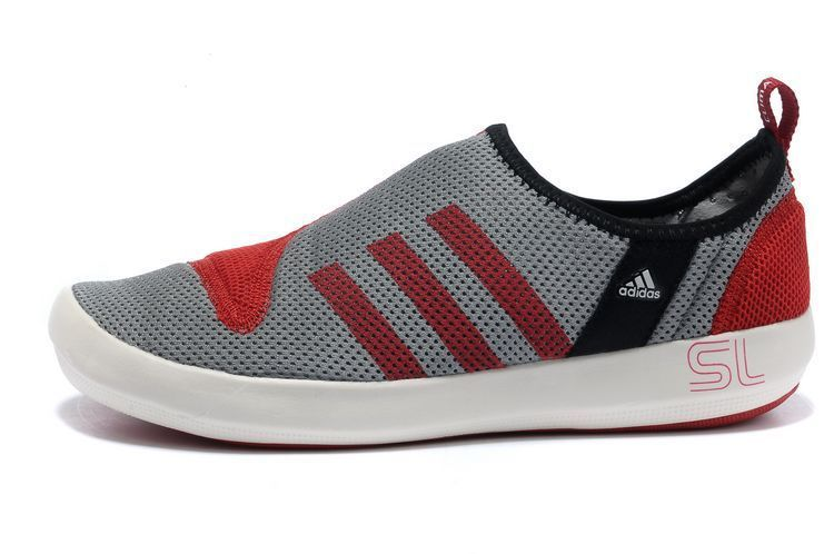 Men\'s/Women\'s Adidas Outdoor Climacool Boat SL Unisex Shoes Metallic Grey/Crimson