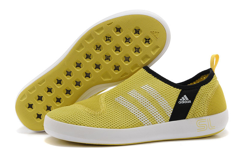 Men's/Women's Adidas Outdoor Climacool Boat SL Unisex Shoes Lemon Yellow/White