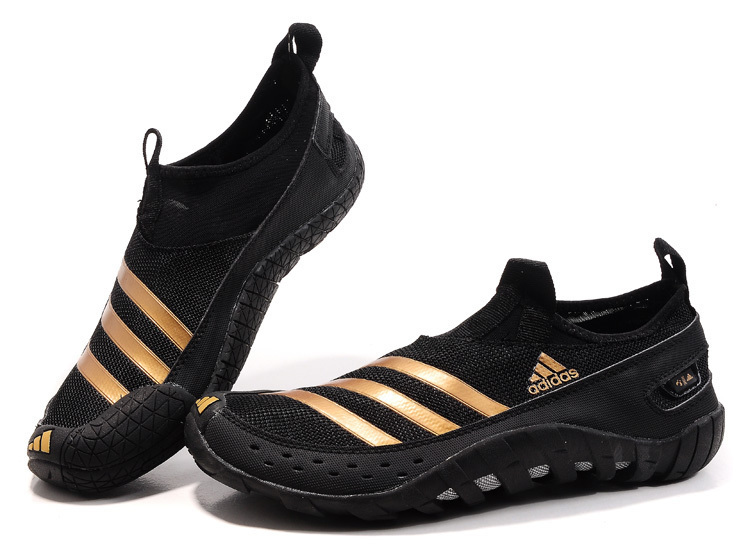 Men\'s Adidas Originals Jawpaw II Water Outdoor Running Shoes Black/Gold V23076