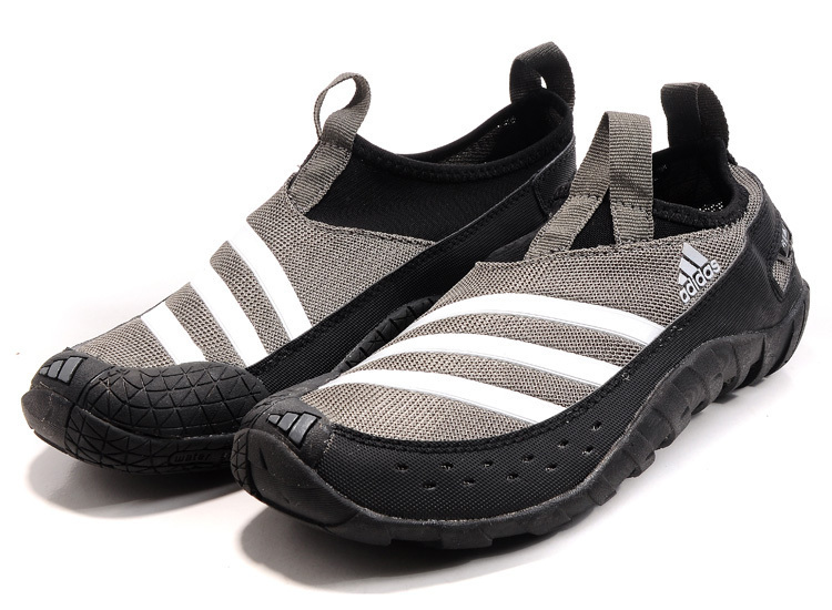 timeless design 6d514 a4cf4 Men  s Adidas Originals Jawpaw II Water Outdoor Running Shoes Grey White  V23073 ...