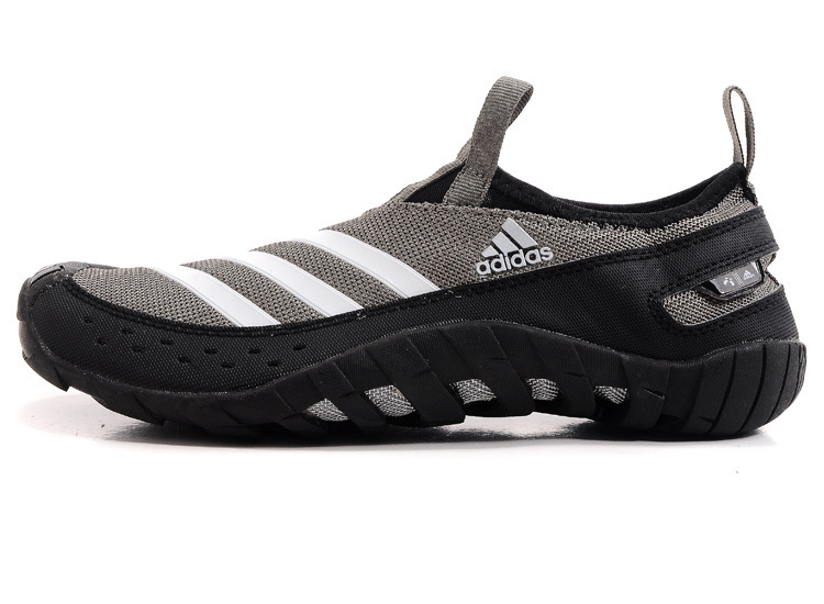 best service e884f 6df99 ... Men  s Adidas Originals Jawpaw II Water Outdoor Running Shoes  Grey White V23073 ...
