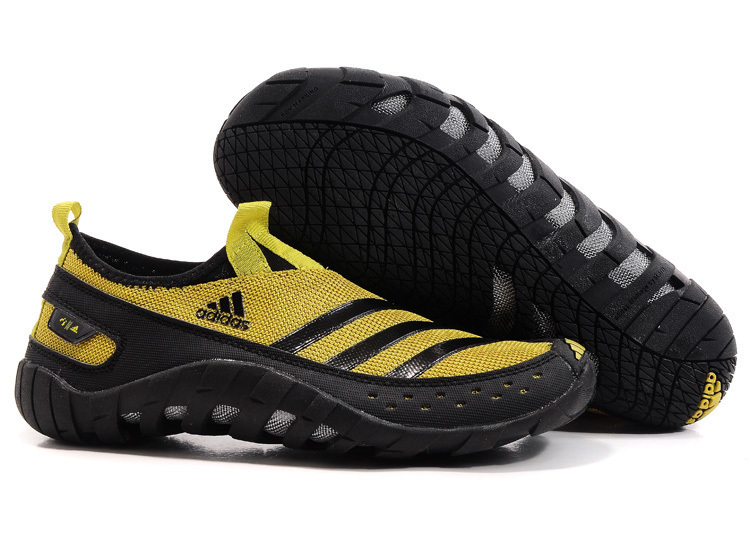Men's Adidas Originals Jawpaw II Water Outdoor Running Shoes Earthy Yellow/Black V23078