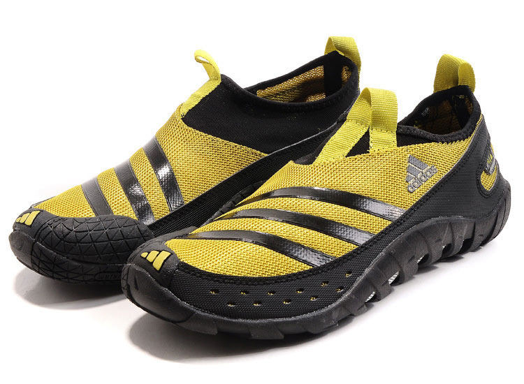 Men\'s Adidas Originals Jawpaw II Water Outdoor Running Shoes Earthy Yellow/Black V23078