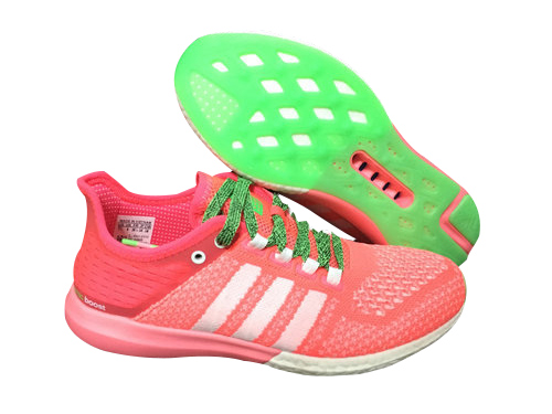 Women's Running Climachill Cosmic Boost Shoes Flash Red/Running White/Flash Green B44500