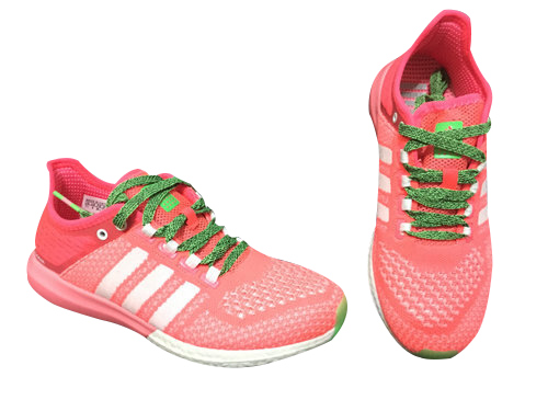 Women\'s Running Climachill Cosmic Boost Shoes Flash Red/Running White/Flash Green B44500