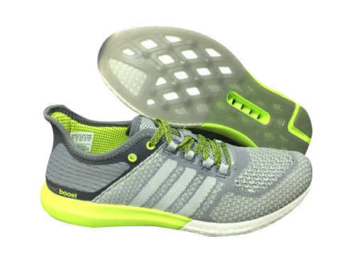 Men's Running Climachill Cosmic Boost Shoes Grey/Light Grey/Fluorescent Yellow B44082