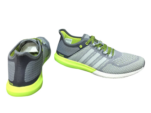 Men\'s Running Climachill Cosmic Boost Shoes Grey/Light Grey/Fluorescent Yellow B44082