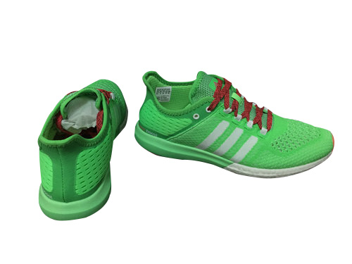 Men\'s Running Climachill Cosmic Boost Shoes Flash Green/Ftwr White/Flash Red B44081