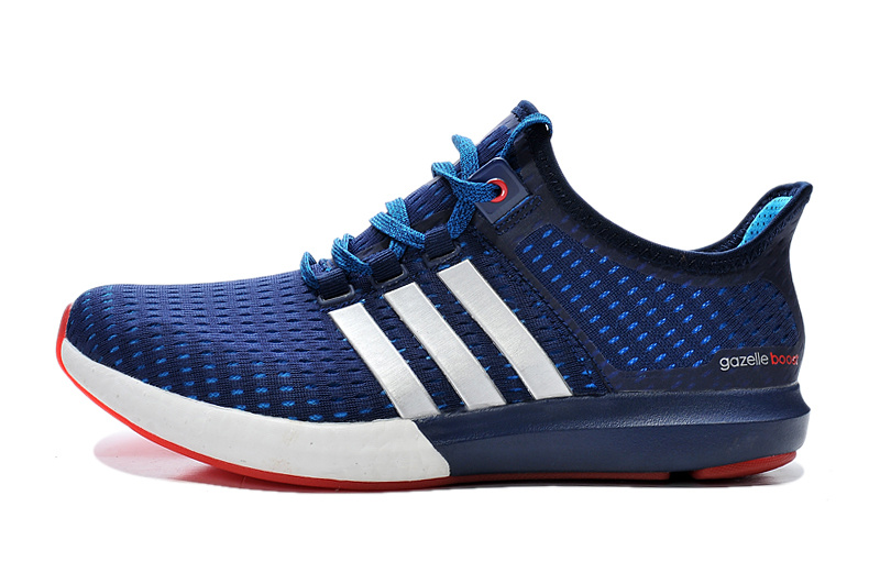Men\'s Running Climachill Ride Boost Shoes Dark Blue/Melon/White S77247