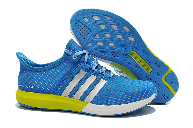 Men's Running Climachill Ride Boost Shoes Blue/White/Green S77241
