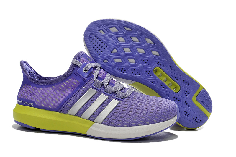 Women's Running Climachill Ride Boost Shoes Light Purple/Volt-Silver S77248