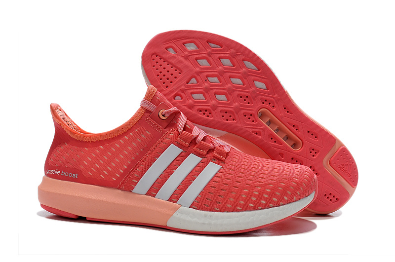 Women's Running Climachill Ride Boost Shoes Semi Flash Red/Ftwr White/Light Flash Orange S77245