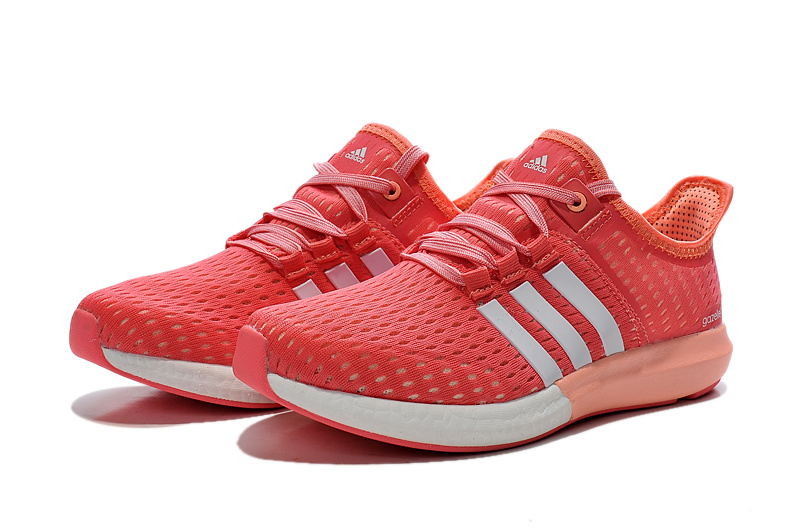 Women\'s Running Climachill Ride Boost Shoes Semi Flash Red/Ftwr White/Light Flash Orange S77245