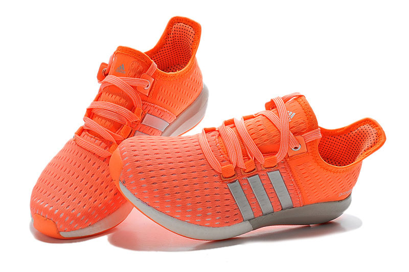 Women\'s Running Climachill Ride Boost Shoes Orange/Silver/White S77246