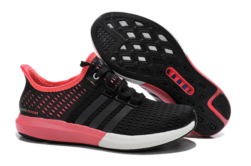 Women's Running Climachill Ride Boost Shoes Black/Bright Red S77244