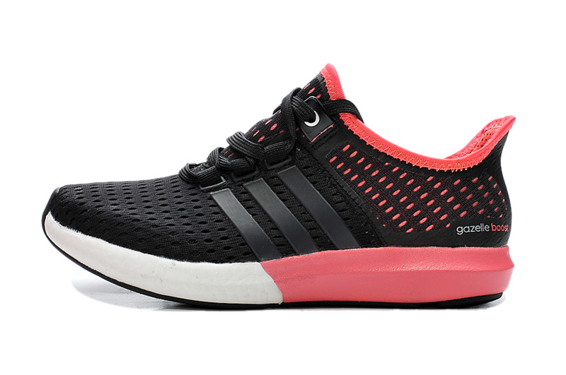 Women\'s Running Climachill Ride Boost Shoes Black/Bright Red S77244