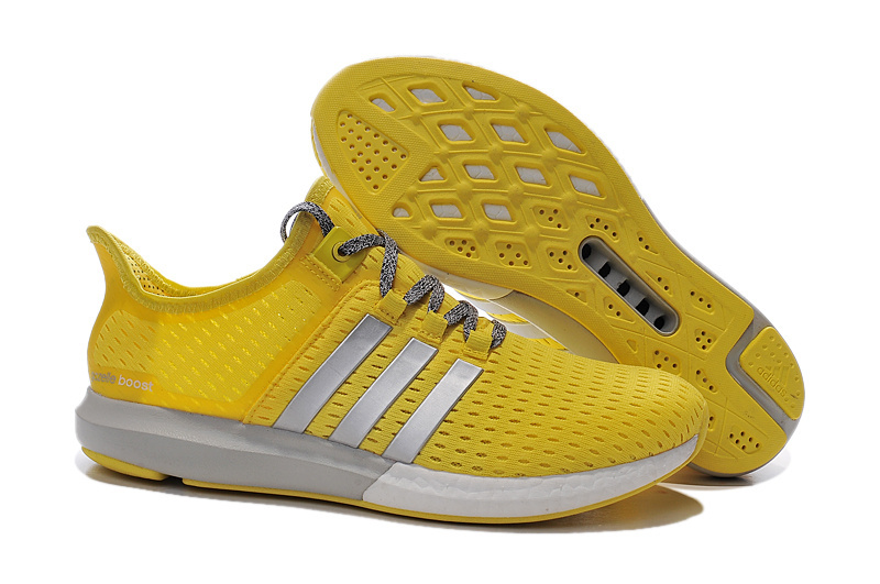 Women's Running Climachill Ride Boost Shoes Yellow/Silver/Grey S77240